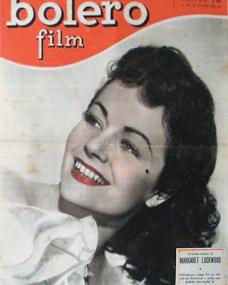 Bolero Film magazine with Margaret Lockwood.  (Spanish)