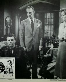 Lobby card from Cast a Dark Shadow (1955) (3) featuring Dirk Bogarde, Robert Flemyng and Margaret Lockwood
