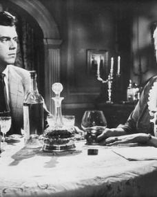 Dirk Bogarde (as Edward Bare) and Mona Washbourne (as Monica Bare) in a photograph from Cast a Dark Shadow (1955) (19)