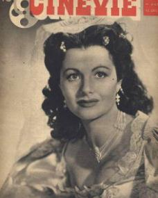 Cinevie magazine with Margaret Lockwood.  12th December, 1945, issue number 11.  (French)