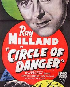 Ray Milland (as Clay Douglas) and Patricia Roc (as Elspeth Graham) in an Australian poster for Circle of Danger (1951) (1)