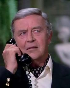Screenshot from the 1972 'The Greenhouse Jungle' episode of Columbo (1971-2003) (3). Ray Milland as Jarvis Goodland