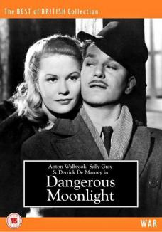 Dangerous Moonlight DVD from Odeon Entertainment and The Best of British Collection (War).  DVD cover features Sally Gray as Carol Peters Radetzky and Anton Walbrook as Stefan 'Steve' Radetzky