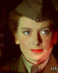 Deborah Kerr wears a 1940s uniform in The Life and Death of Colonel Blimp
