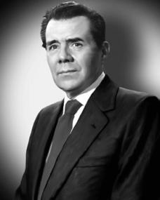 Publicity photo of British actor Dirk Bogarde, used by BBC Radio 3 to advertise its drama about the making of the film, 'Victim'