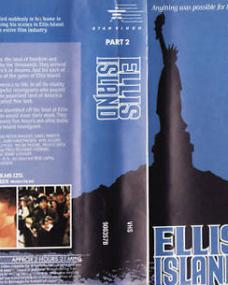Richard Burton and Faye Dunaway in an Australian video cover from Ellis Island (1984) (1)