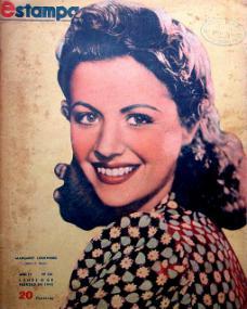 Estampa magazine with Margaret Lockwood.  9th February, 1942, volume 4, issue number 181.  (Argentine)