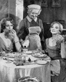 Constance Cummings (as Jane Banbury), Ann Lancaster (as Saunders) and Joan Greenwood (as Julia Sterroll) in a photograph from Fallen Angels (1967) (1)