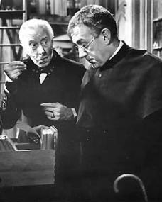 Alec Guinness (as Father Brown) in a photograph from Father Brown (1954) (14)