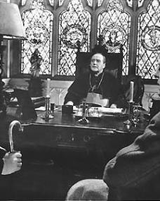 Alec Guinness (as Father Brown) in a photograph from Father Brown (1954) (7)