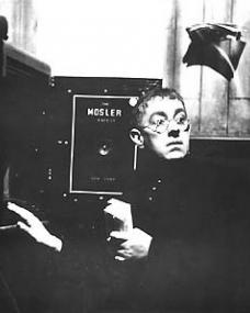 Alec Guinness (as Father Brown) in a photograph from Father Brown (1954) (8)