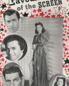 Favourites of the Screen magazine with Margaret Lockwood, Stewart Granger, and  James Mason.  1946.