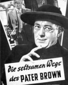 Illustrierte Film Bühne magazine with Alec Guinness in Father Brown.  Issue number 2587.  (German).  Die seltsamen Wege des Pater Brown.