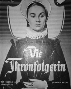 Illustrierte Film Bühne magazine with Jean Simmons in Young Bess.  Issue number 2187.  (German).  Die Thronfolgerin.