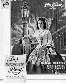 Film Bühne magazine with Margaret Lockwood in Hungry Hill.  (German).  Der kupferne Berg ('The Copper Mountain').