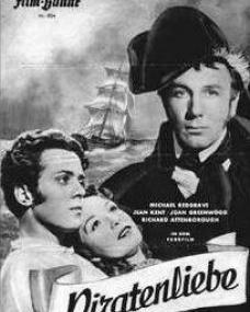 Illustrierte Film Bühne magazine with Richard Attenborough, Jean Kent, and  Michael Redgrave in The Man Within.  (German).  Piratenliebe.