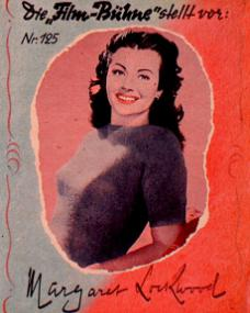 Film Bühne magazine with Margaret Lockwood.  Issue number 125.  (German)