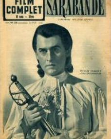 Film Complet magazine with Stewart Granger in Saraband for Dead Lovers.  28th September, 1950, issue number 225.  (French)