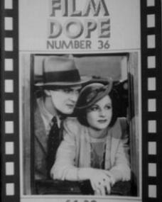 Film Dope magazine with John Lodge and  Margaret Lockwood in Bank Holiday.  Issue number 36.