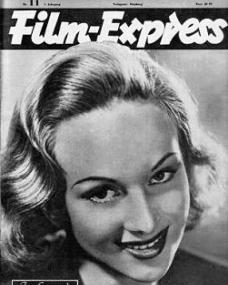 Film Express magazine with Joan Greenwood.  1949, issue number 11.
