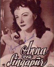 Illustrierte Film Kurier magazine with Margaret Lockwood in Laughing Anne.  (German).  Anna von Singapur.