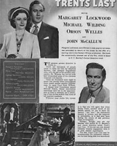 Film Review magazine with Margaret Lockwood and  Michael Wilding in Trent's Last Case.  January, 1953.