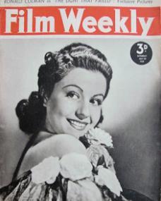 Film Weekly magazine with Margaret Lockwood.  29th July, 1939.