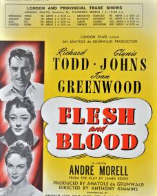 Poster for Flesh and Blood (1951) (1)