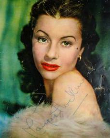 Margaret Lockwood, Gainsborough star, in an autographed colour oil painting