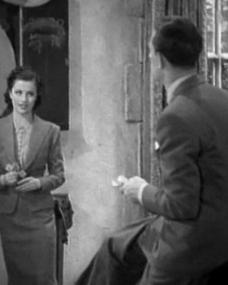 Margaret Lockwood (as Leslie James) and Hugh Sinclair (as Earl of Pangborough) in a screenshot from A Girl Must Live (1939) (2)