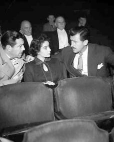 Photo of Robert Taylor, Elizabeth Taylor and Stewart Granger