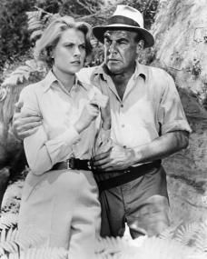 Grace Kelly (as Catherine Knowland) and Paul Douglas (as Vic Leonard) in a photograph from Green Fire (1954) (8)
