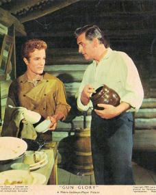 Steve Rowland (as Tom Early, Jr) and Stewart Granger (as Tom Early) in a photograph from Gun Glory (1957) (3)