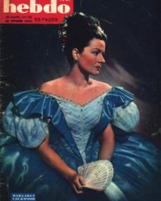 Hebdo magazine with Margaret Lockwood in Jassy.  1948.  (French)