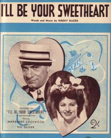 Vic Oliver (as Sam Kahn) and Margaret Lockwood (as Edie Story) in Australian sheet music from I'll Be Your Sweetheart (1945) (1)
