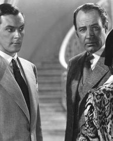 Photograph from It Started in Paradise (1952) with Terence Morgan as Edouard, Ian Hunter as Arthur Turner and and Muriel Pavlow as Alison