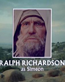 Main title from Jesus of Nazareth (1977) (21). Ralph Richardson as Simeon