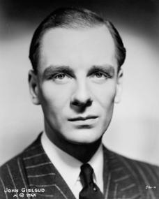 British actor, John Gielgud, a GB star