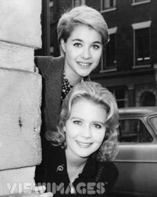 British actresses Julia Lockwood who will play Peter Pan, with Juliet Mills who will play Wendy, in the annual production of 'Peter Pan' at London's Scala Theatre
