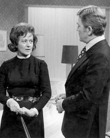 Margaret Lockwood (as Harriet Peterson) and John Stone (as Dr Ian Moody) in a photograph from Justice (1971-74) (2)