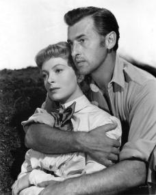 Deborah Kerr (as Elizabeth Curtis) and Stewart Granger (as Allan Quatermain) in a photograph from King Solomon's Mines (1950) (1)