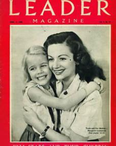 Leader magazine with Julia Lockwood and  Margaret Lockwood.  April, 1948.  Fiilm stars and their children.