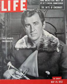 Life magazine with Stewart Granger in The Prisoner of Zenda.  26th May, 1952.