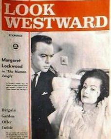 Look Westward magazine with Herbert Lom and  Margaret Lockwood in The Human Jungle.  13th March, 1965.