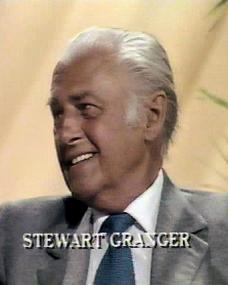 Stewart Granger (as Himself – Guest) in a screenshot from the 20th July, 1982 episode of Looks Familiar (1970-87)