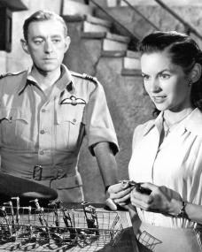 Alec Guinness (as Flight Lt Peter Ross) and Muriel Pavlow (as Maria Gonzar) in a photograph from the 1953 film, Malta Story (1)