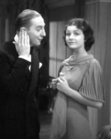 Claude Hulbert (as Lord Rufus Paul) and Margaret Lockwood (as Vera Barton) in a screenshot from Man of the Moment (1935) (3)