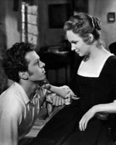 Richard Attenborough (as Francis Andrews) and Joan Greenwood (as Elizabeth) in a photograph from The Man Within (1947) (1)