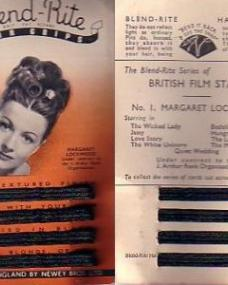 The Blend-Rite series of British Film Stars; Number 1, featuring Margaret Lockwood