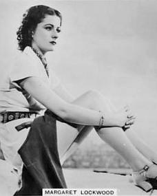 Cigarette card (Ardath, Series 7, Number 35) featuring Margaret Lockwood in a pose from Bank Holiday